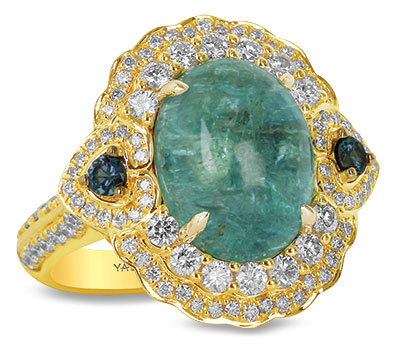 Yael oval paraiba ring