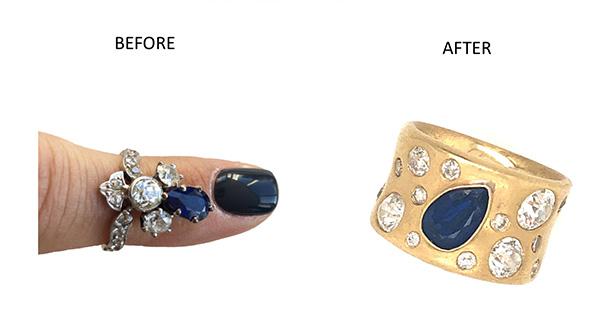 21c sapphire ring conversion