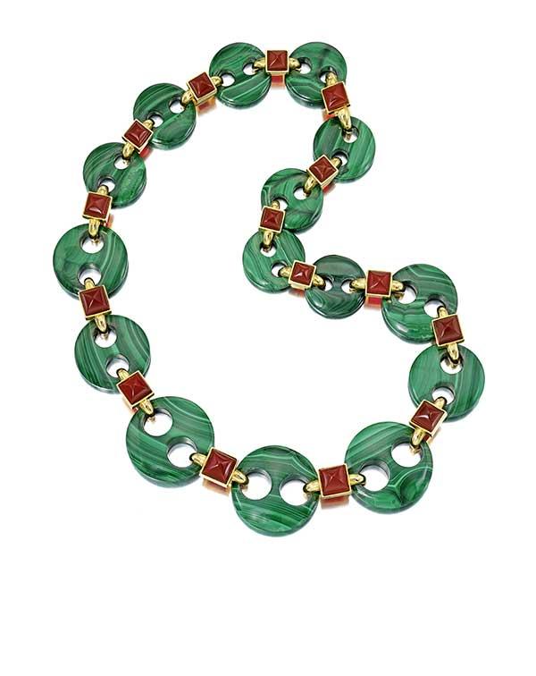 Aldo Cipullo malachite necklace Bonhams New York Jewels sale