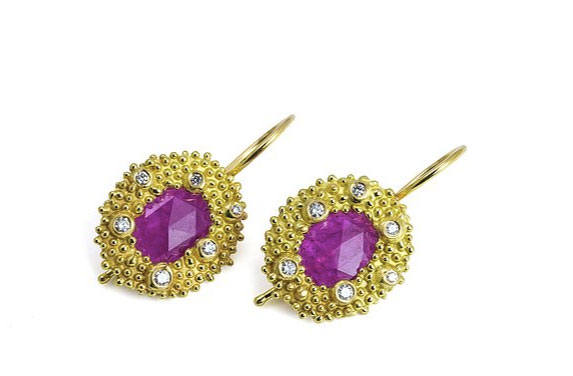 Angelica Cammarota ruby slice earrings