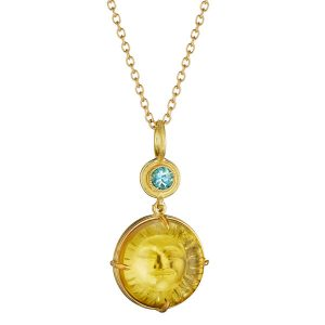 Anthony Lent sunrise citrine pendant