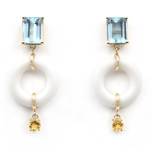 Bondeye Jewelry topaz and citrine earrings