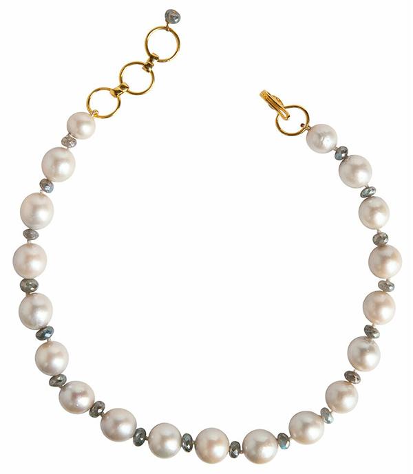 Bounkit pearl labradorite strand