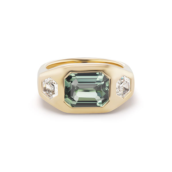 Brent Neale gypsy ring teal sapphire