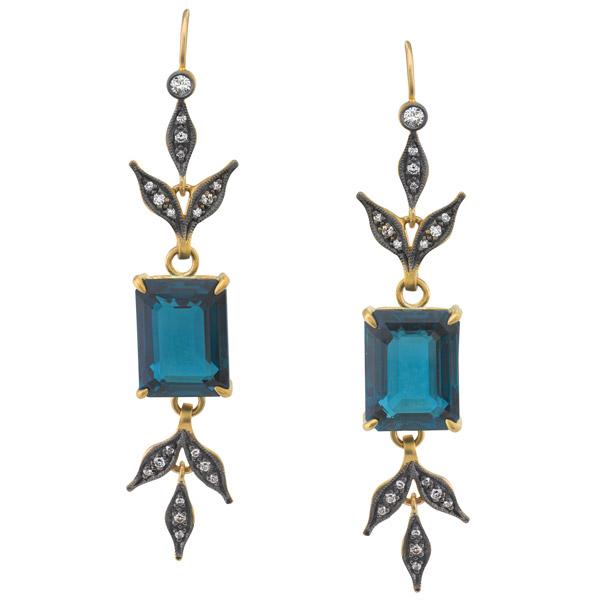 Cathy Waterman topaz earrings
