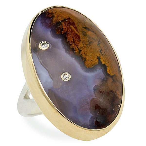 Chinchar Maloney Picture agate ring