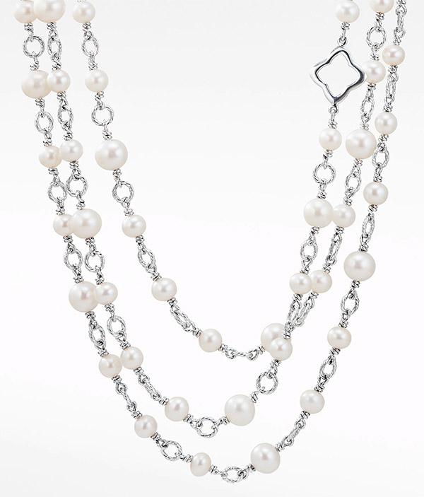 David Yurman bijoux pearl chain