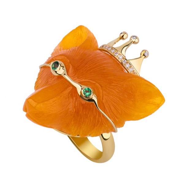 Dima Jewelry jade Fox ring