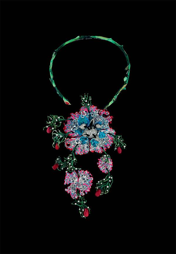 Dior Collier Reina Magnifica Sangria necklace