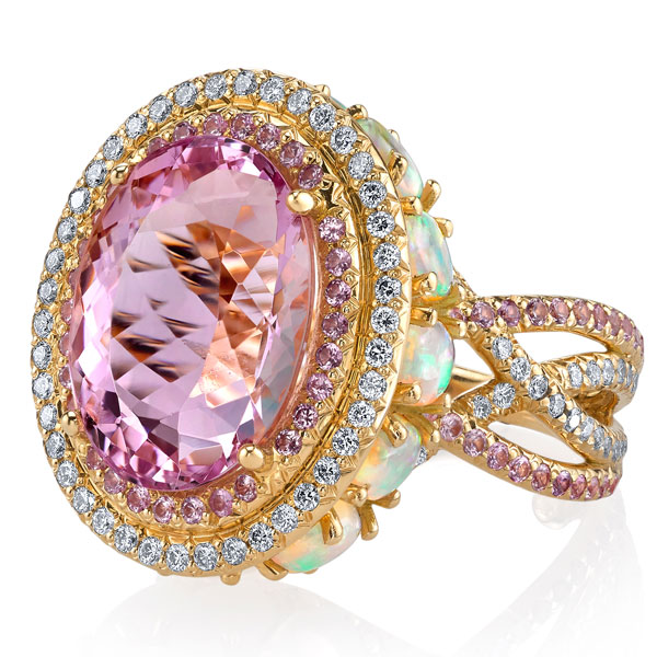 Erica Courtney imperial topaz Crossover ring