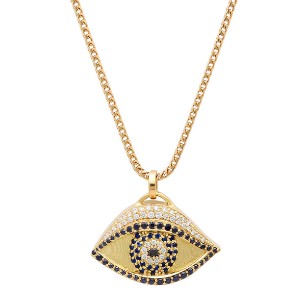Established men evil eye necklace