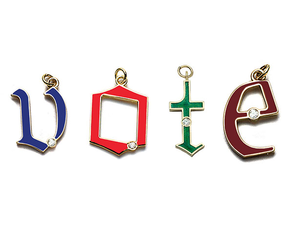 Foundrae letter charms
