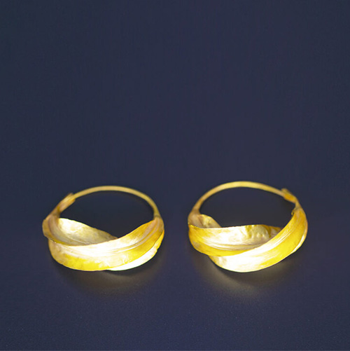 Fulaba 22k gold Fulani earrings