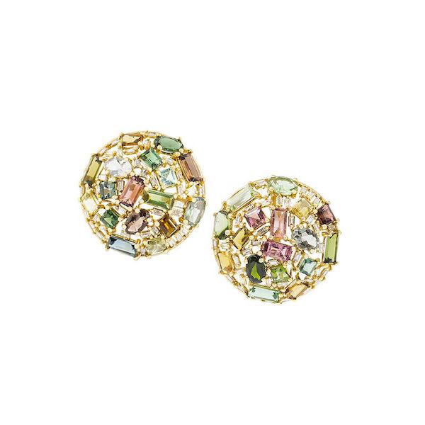 Golden Gazelle vintage tourmaline tops earrings