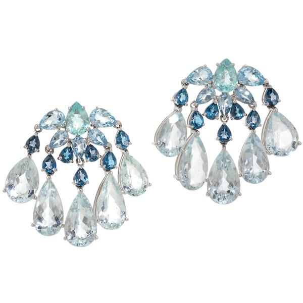 Graziela blue topaz earrings
