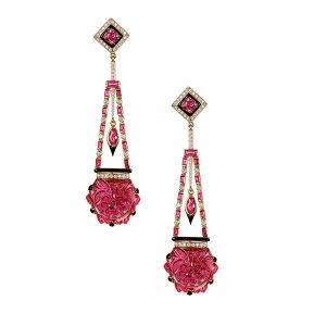 Hanut Singh ruby earrings