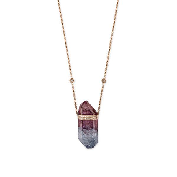 Jacquie Aiche Wildest Dreams aura quartz crystal necklace
