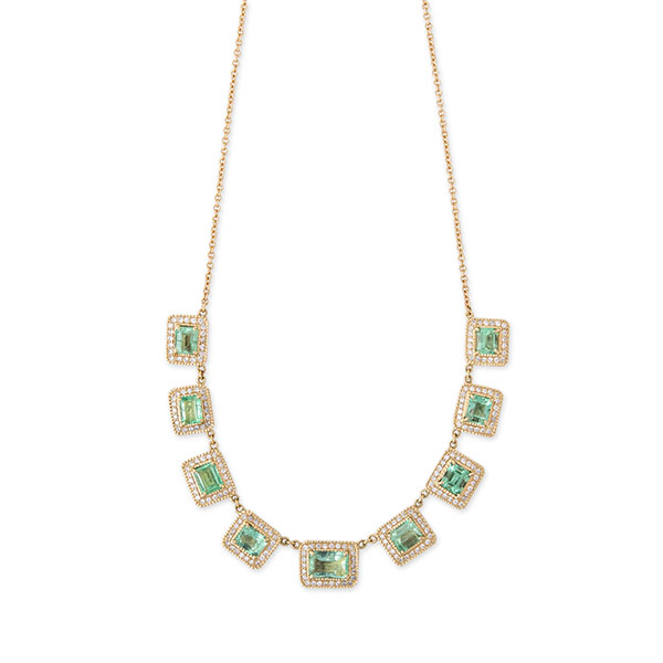 Jacquie Aiche Wildest Dreams baguette emerald necklace
