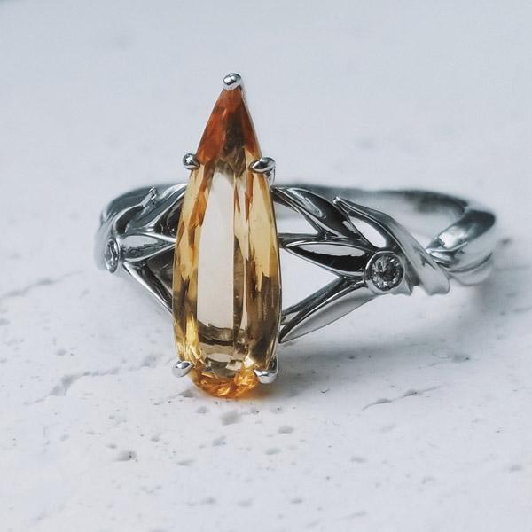 Jennifer Hillyer imperial topaz ring