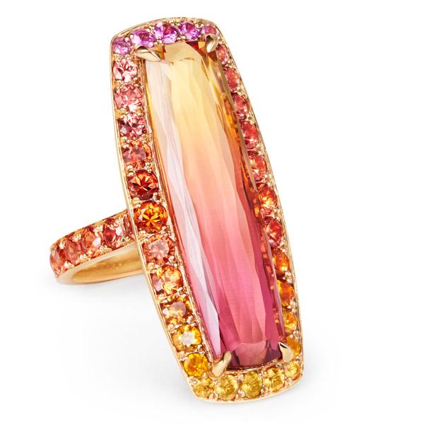Katherine Jetter bicolor topaz ring