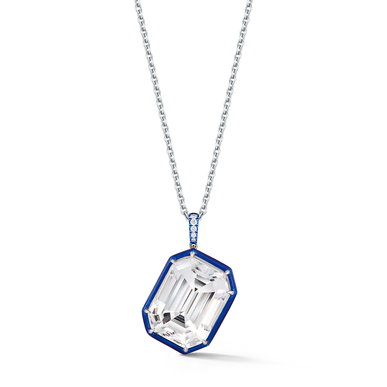 Katherine Jetter white topaz pendant