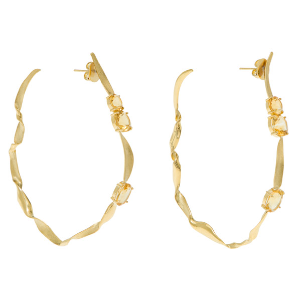 Larissa Moraes Van Gogh yellow flower earrings