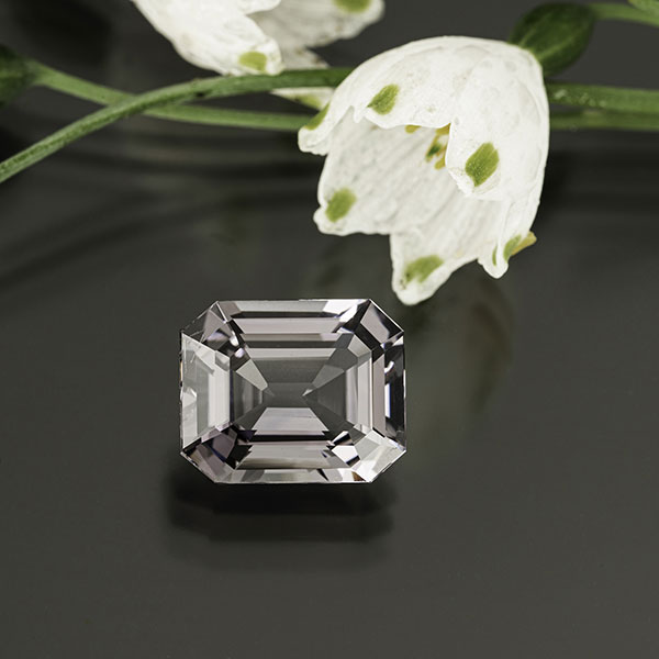 Lavender gray spinel 7.3 cts from Burma by Mia Dixon