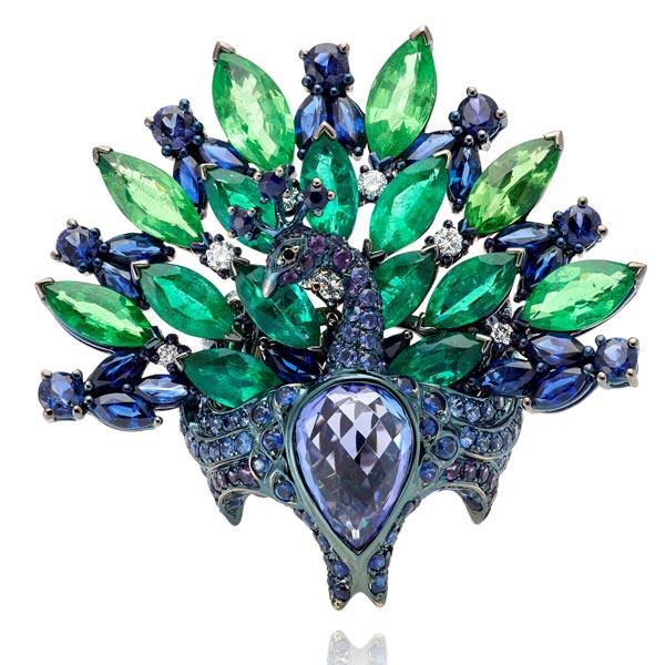 Lydia Courteille Peacock ring