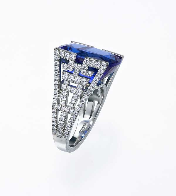 Mark Patterson Zen sapphire ring
