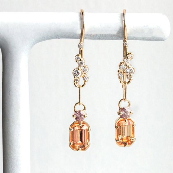 Melanie Casey imperial topaz earrings