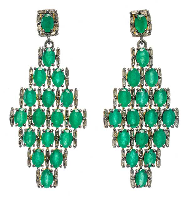 Modern Moghul emerald earrings