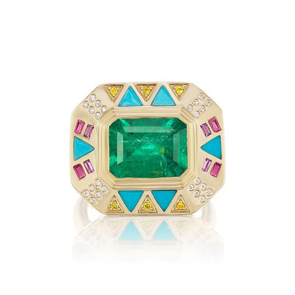 Muzo Emerald x Harwell Godfrey ring