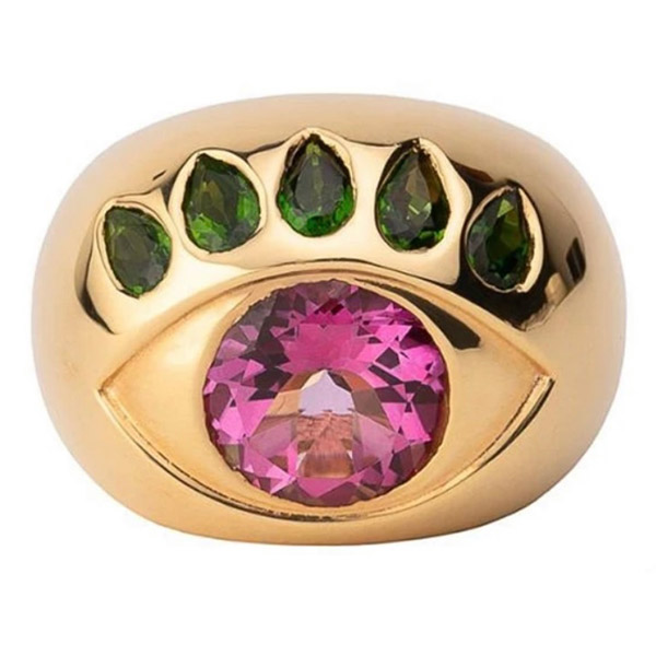 NeverNoT pink topaz eye ring