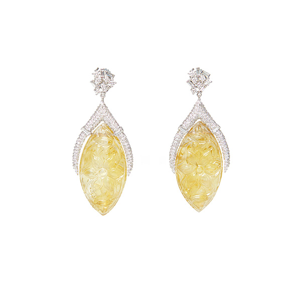Ri Noor carved citrine earrings