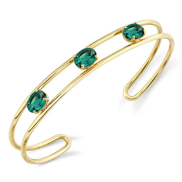 Sarah Hendler green topaz bracelet