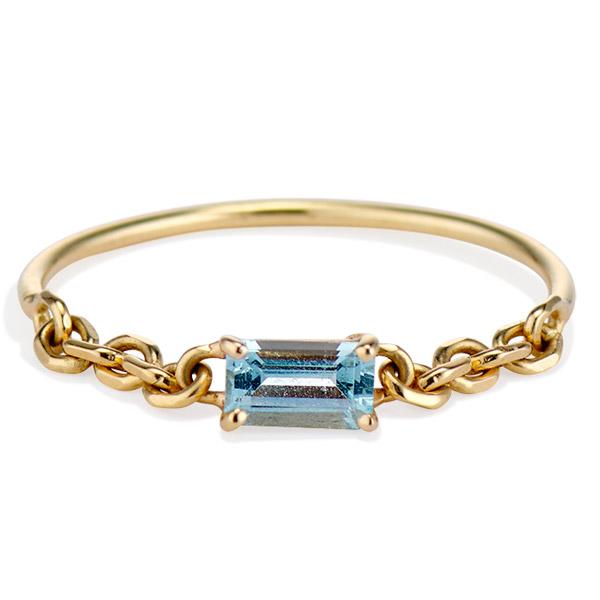 Senia blue topaz Prisma ring