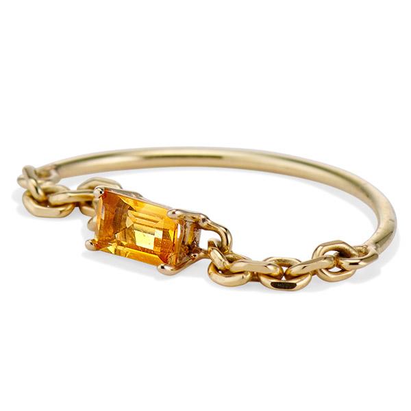 Senia yellow topaz Prisma ring