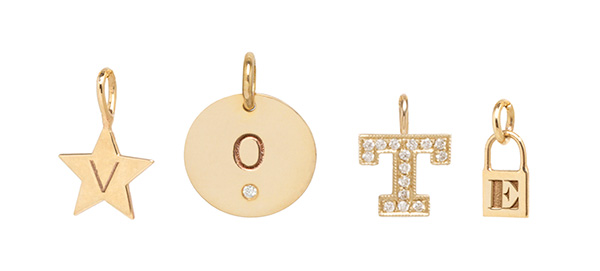 Zoe Chicco letter charms