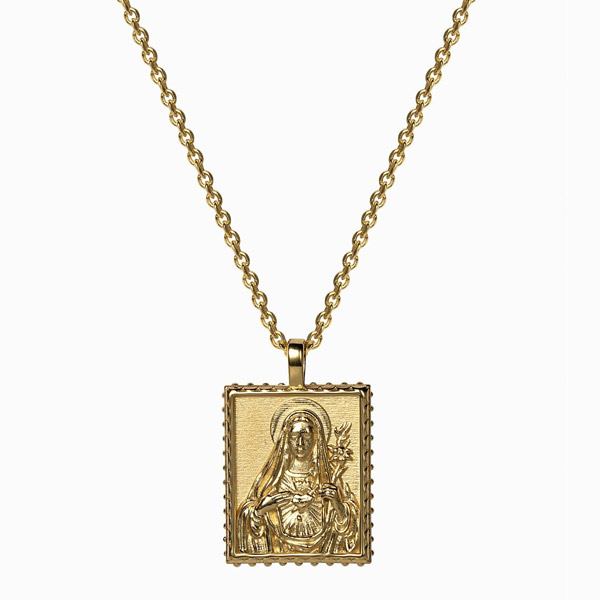 Awe Inspired Mother Mary pendant