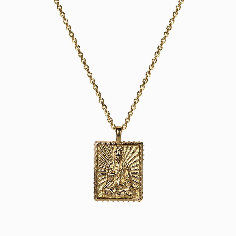 Awe Inspired Quan Yin pendant