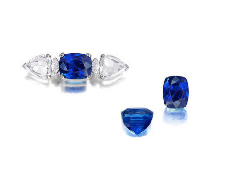 Bonhams sapphire set