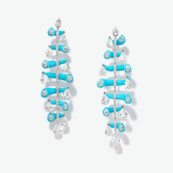Glenn Spiro diamond turquoise earrings