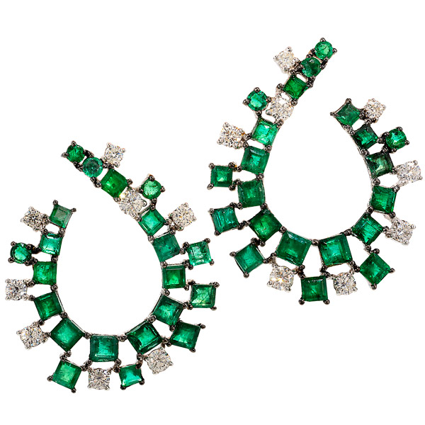 Graziela emerald earrings