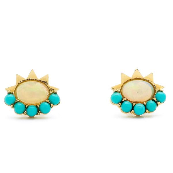 Ileana Makri blue sun earrings
