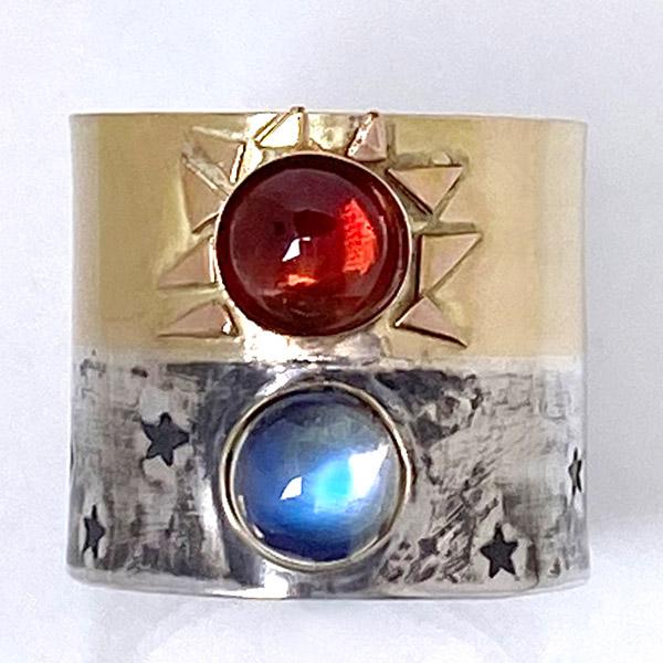 Jen Volkodav sun moon ring