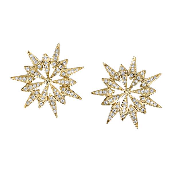 Karma el Khalil starburst earrings