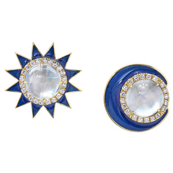 Lord Jewelry sun moon earrings