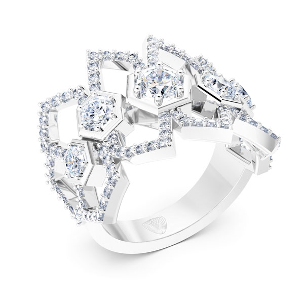 Luminous Diamonds ring