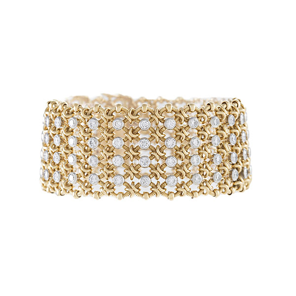 Macklowe Cartier gold and diamond bracelet