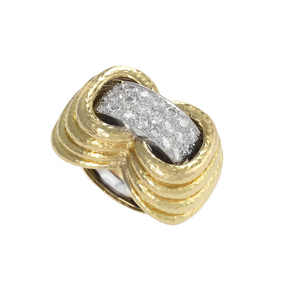 Macklowe David Webb gold and diamond ring